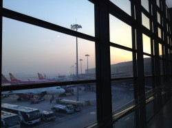 Sunrise in the airport